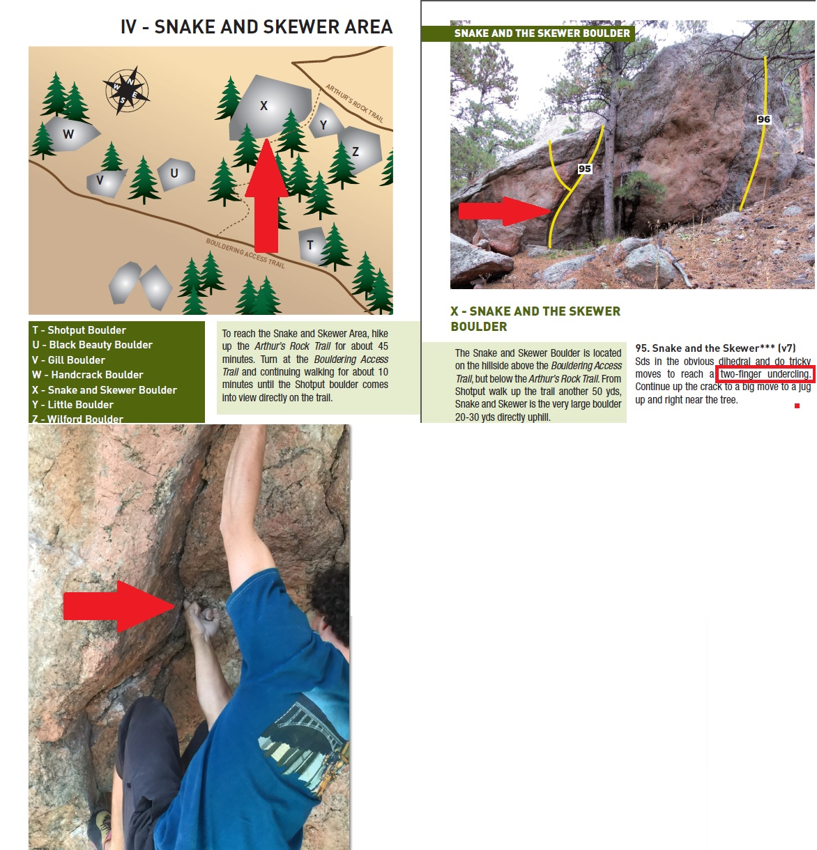picture of climbing route and cracks where bats were seen